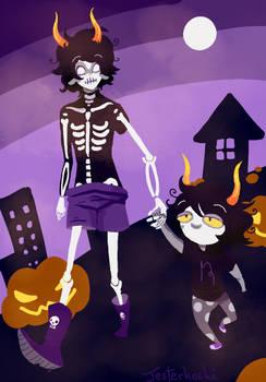 Mirthful Halloween walk