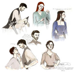Game of Thrones Sketchdump by aqvarelles