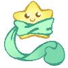 Chikapi Companion- Wishy Star Green by NuddleDuddles