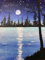 Winter night  by IngridChristina