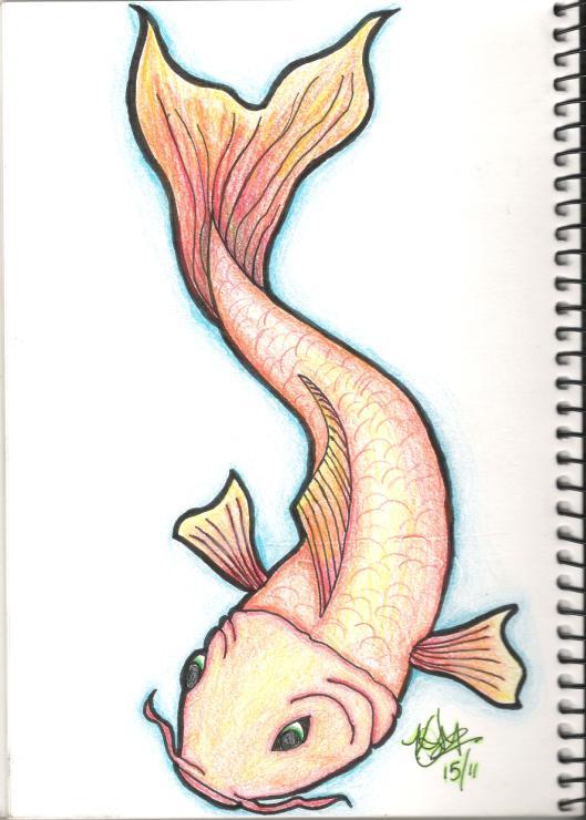 Koi Fish in Pencil by kimi-ko