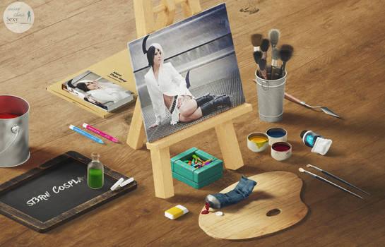 Art Scene with Cosplay