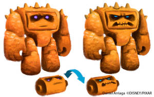 Toy Story 3 CHUNK concept art by danielarriaga