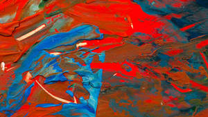 Thick Gouache Abstract I Crop2 by nathanmarciniak