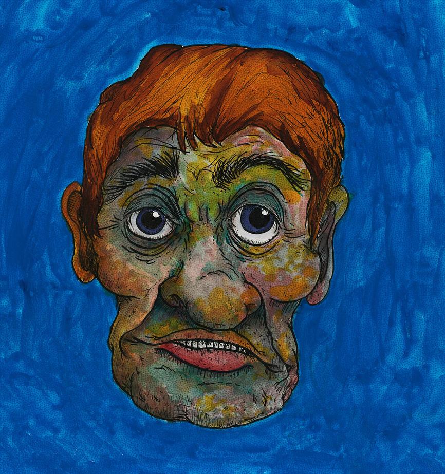 Blue World Man by nathanmarciniak