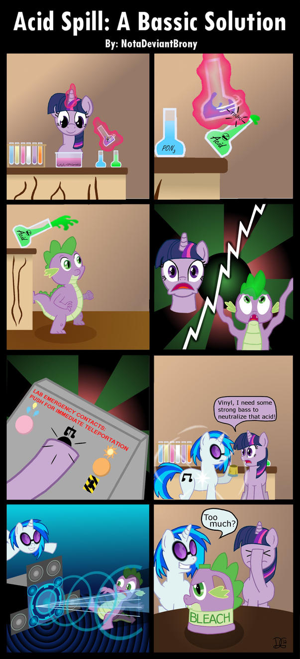 Acid Spill: A Bassic Solution by NotaDeviantBrony