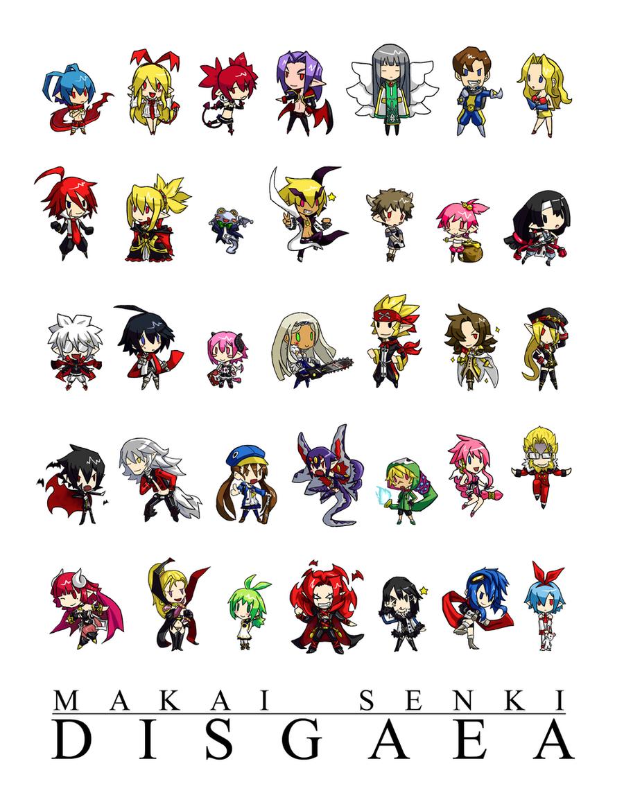 Makai SD Disgaea by shadowdancer09