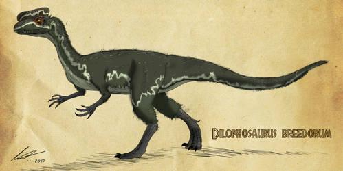 Dilophosaurus by imapuniverse