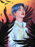 BTS Jimin Black Swam by MiChillart
