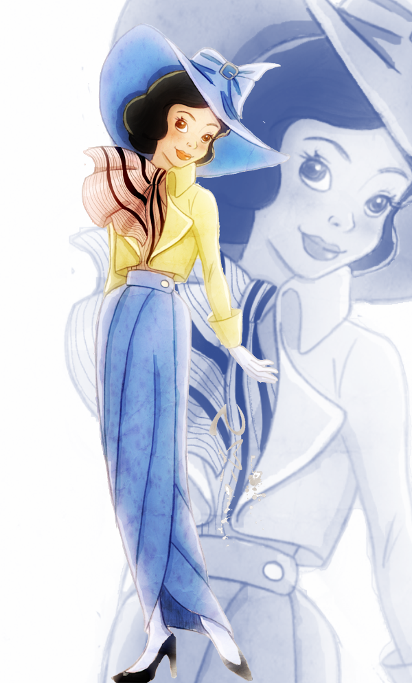 Disney Fashion_ Snow White by Georgia-O-Queef