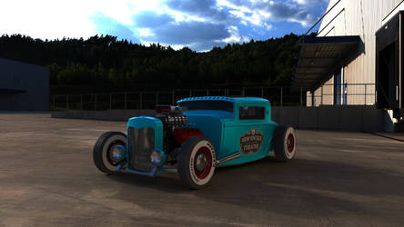 1930 Ford Model A Coupe Hot Rod by BuseHase