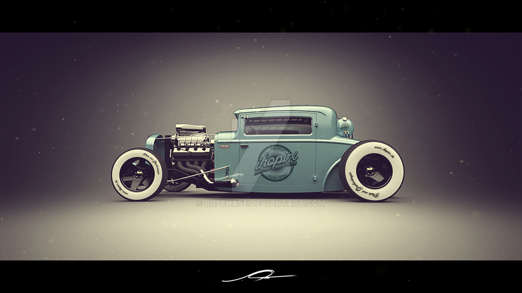 Ford Model A Coupe hot rod studio render by BuseHase on DeviantArt