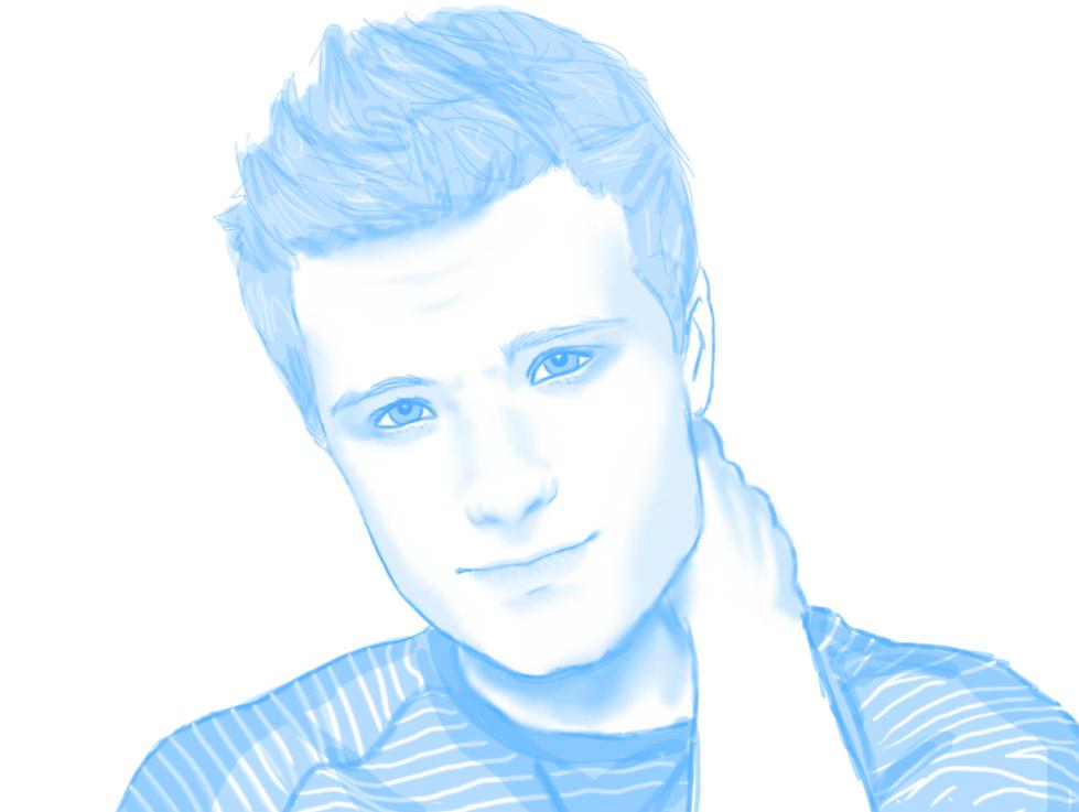 Sketch - Josh Hutcherson by hannahspangler