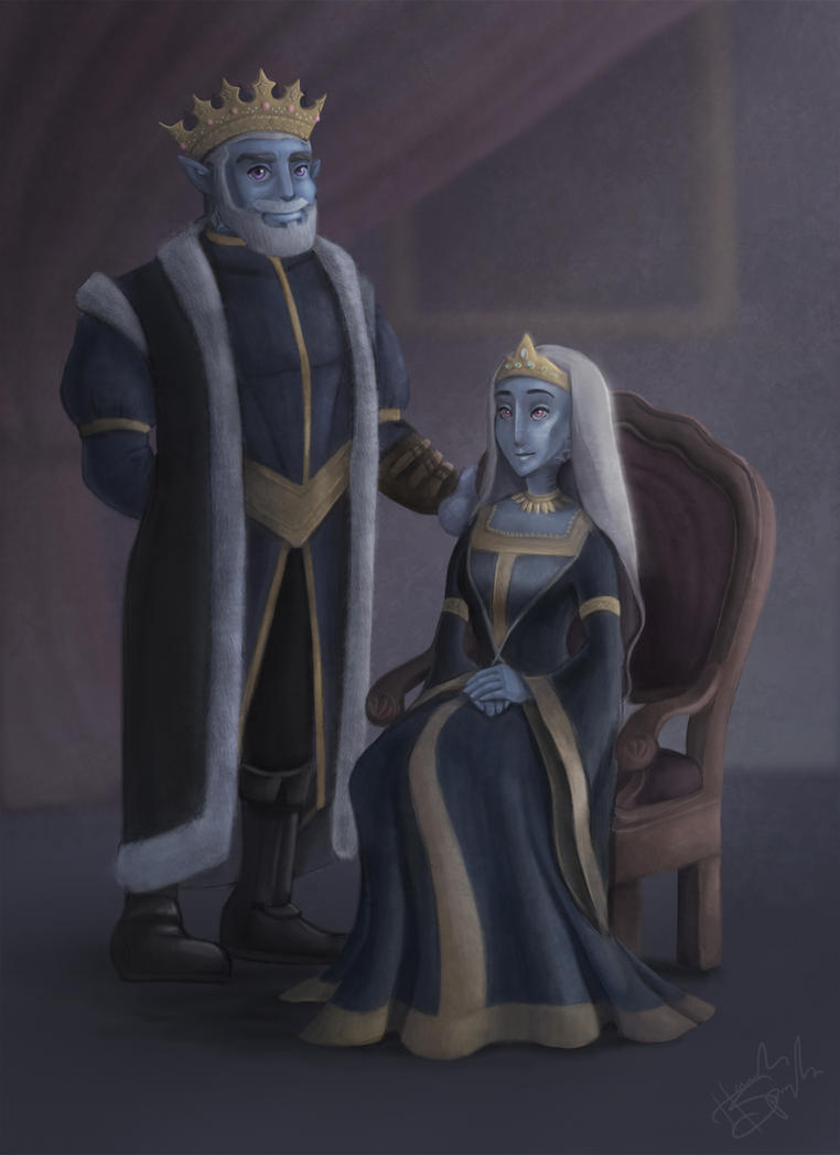 King Alec and Queen Jenell of Ceraphane by hannahspangler