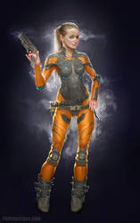 pilot_space suit female by paulboutros