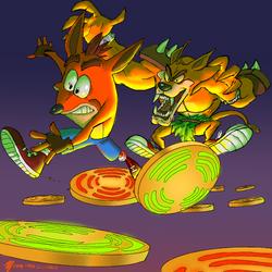 Crash vs Tiny by terminator7000