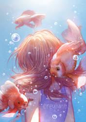 Goldfish by creylune