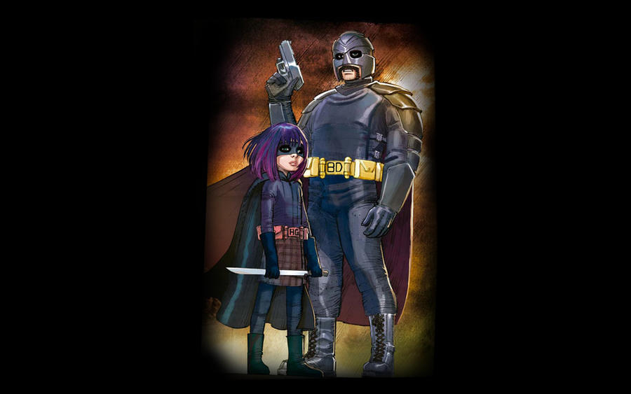 Kick Ass Hit Girl And Big Daddy Wallpaper By The1nkblot On