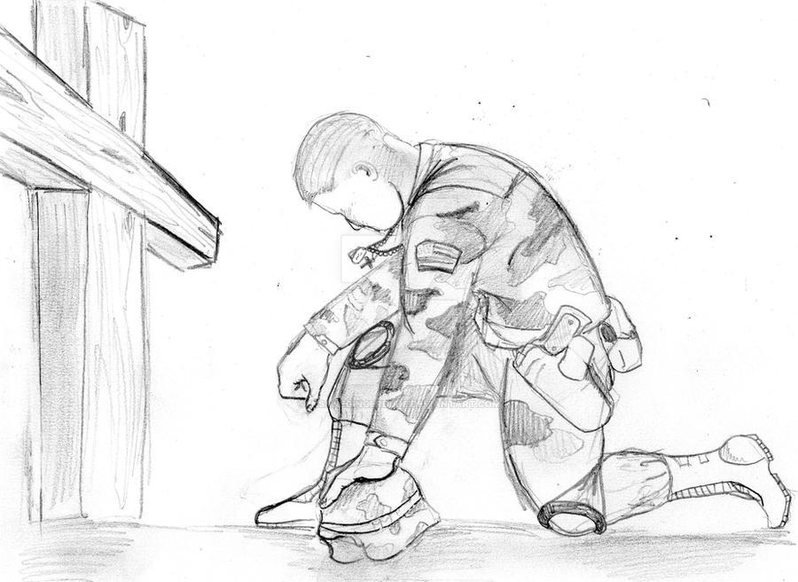 how to draw jesus praying