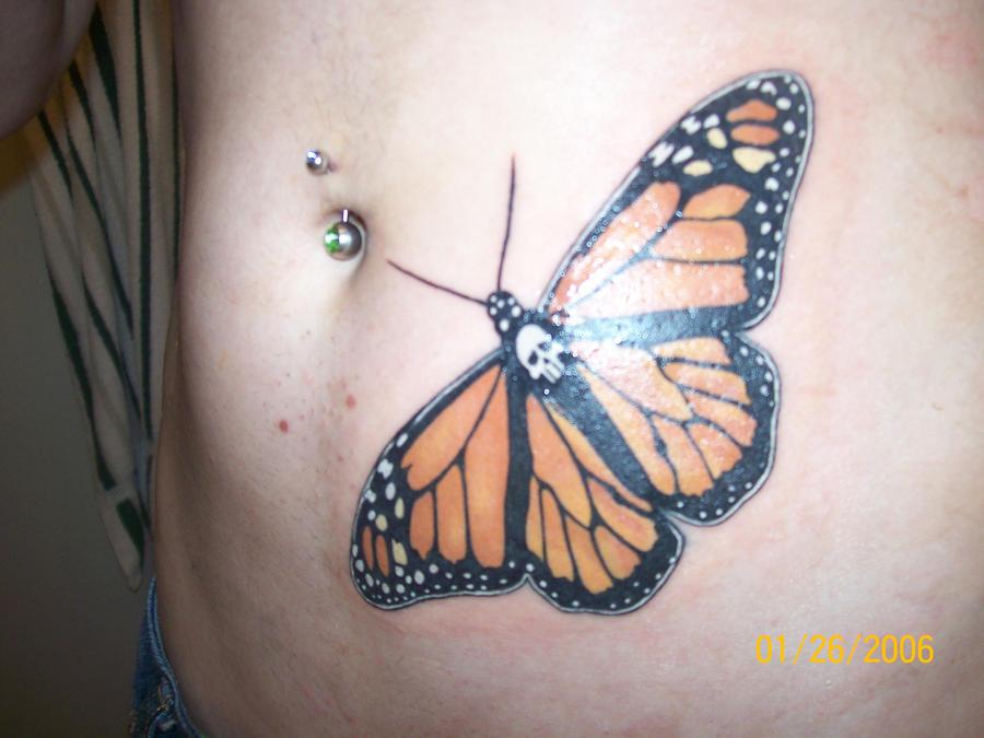 Monarch Butterfly On Flower Tattoo Monarch Butterfly Tattoo