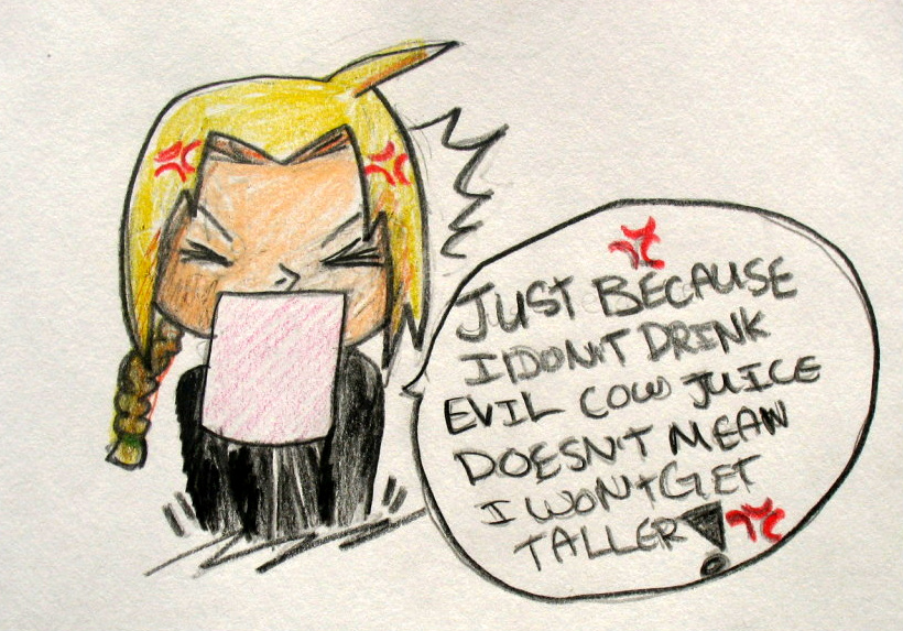 Edward Elric doesn't like milk by okami-hato23