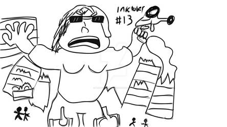 Inktober day #13: Karenzilla