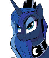 Disgruntled Luna by MonsterGlad