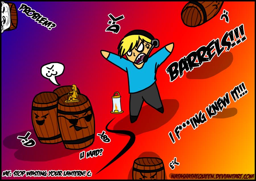 BARRELS!!! by xShiro-no-Musumex