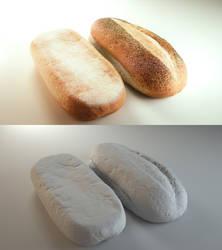 3D bread by Patan77xD