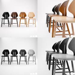 Retro Modern Chair J67 [3D] by Patan77xD