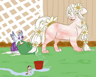 Homegrown Greenery With Magical Friends by Krizpie