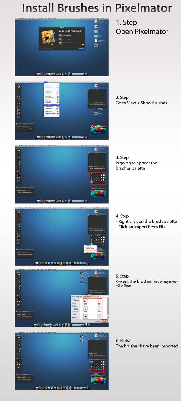 Install Brushes Pixelmator