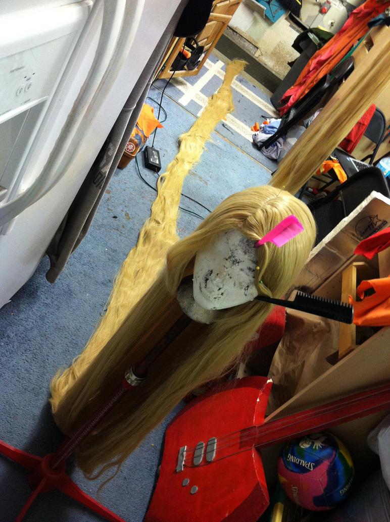 Rapunzel Wig Commission WIP by Phantom-Shadow