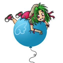 Mitsuki on a Balloon by SweetyChimp