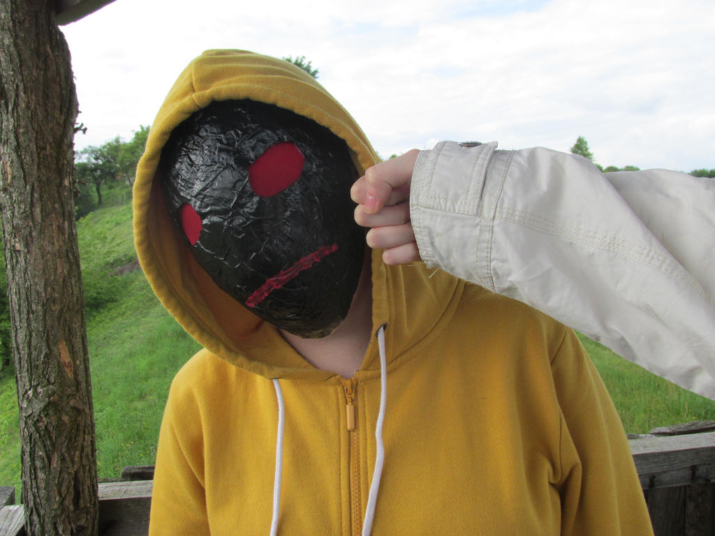 slap from Masky by little-devil-soul