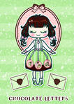 Chocolate Letters Illustration