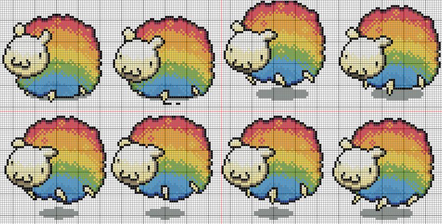 rainbow sheep patron by YuikoHeartless