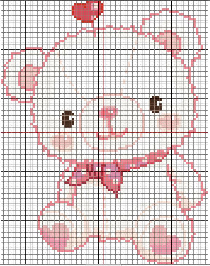 pink bear by YuikoHeartless