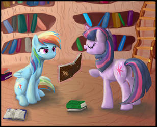 The joys of reading? by DawnMistPony