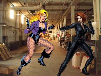 Black Widow vs Black Canary