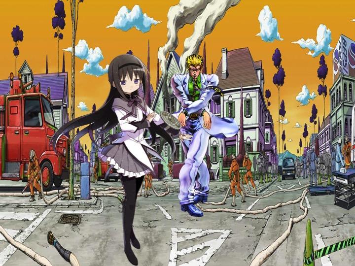 Homura Akemi vs Yoshikage Kira by gordhanx