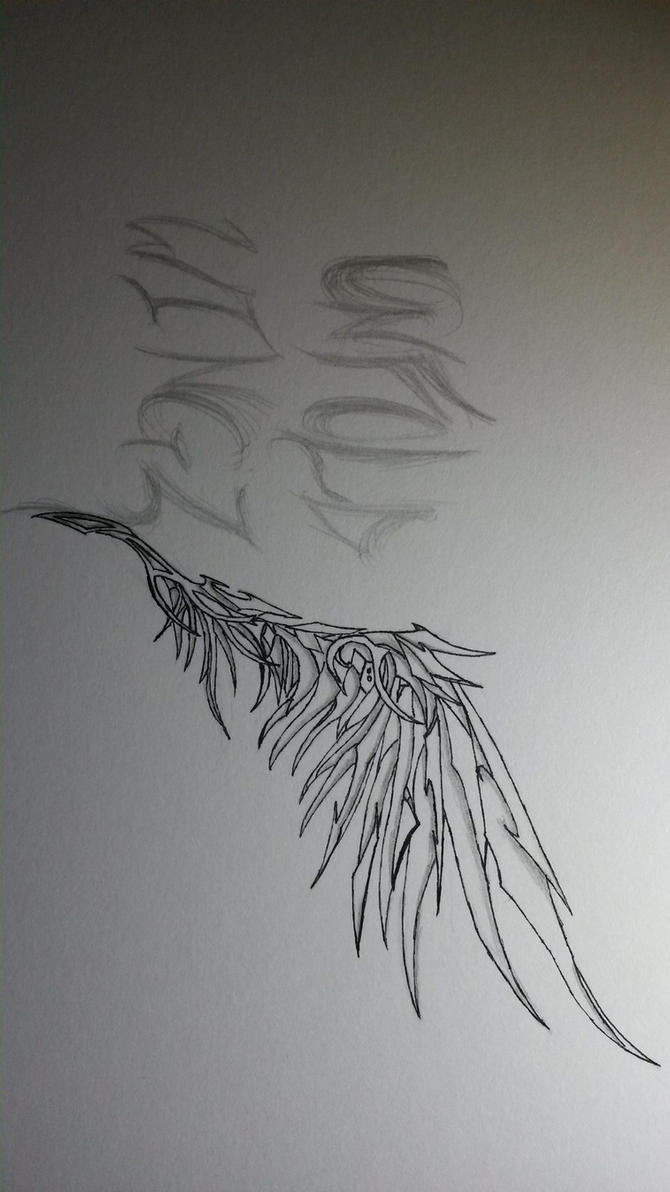 Wing Practice 1 by kusakaice