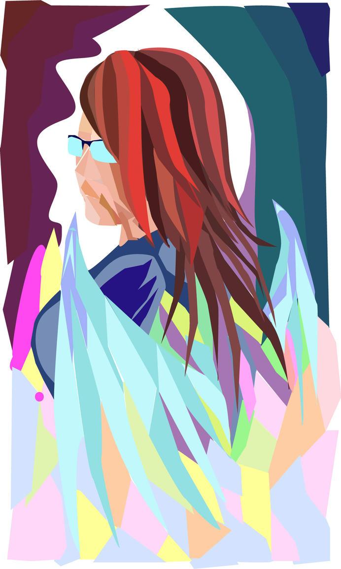 Self Protrait- imagination by kusakaice