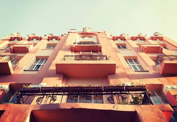 House in retro tones by croicroga
