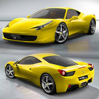 Ferrari 458 Italia Yellow by Jacopo93