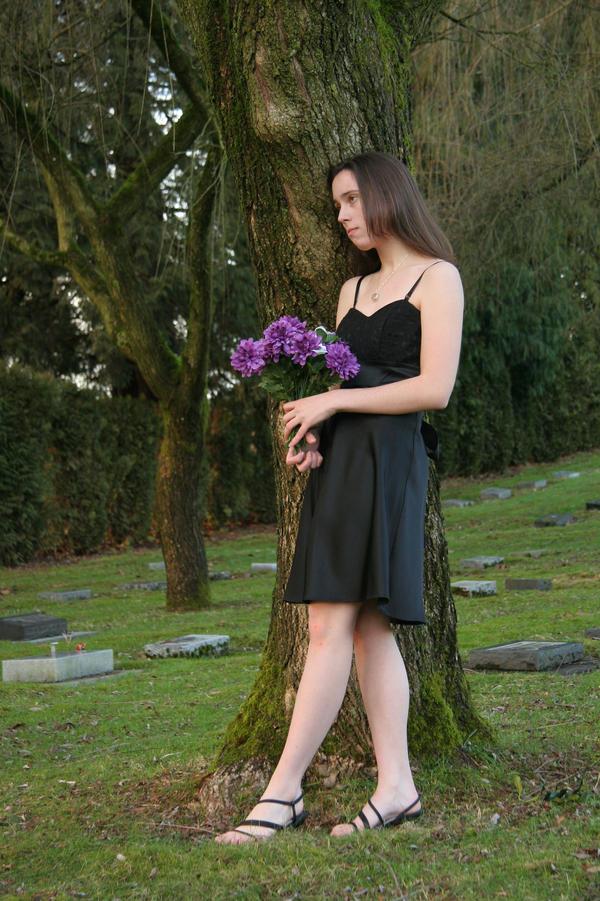 Girl in Graveyard