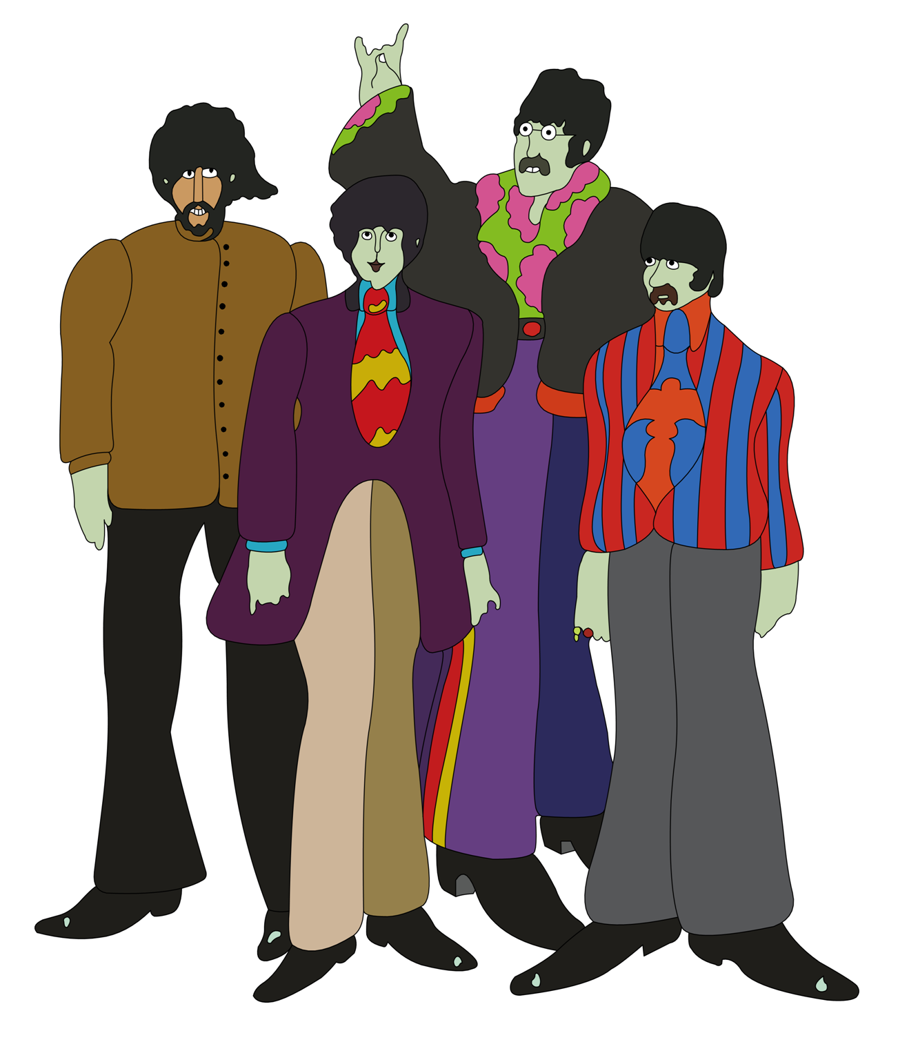 Beatles Yellow Submarine Cover Art by Vaiktorizer