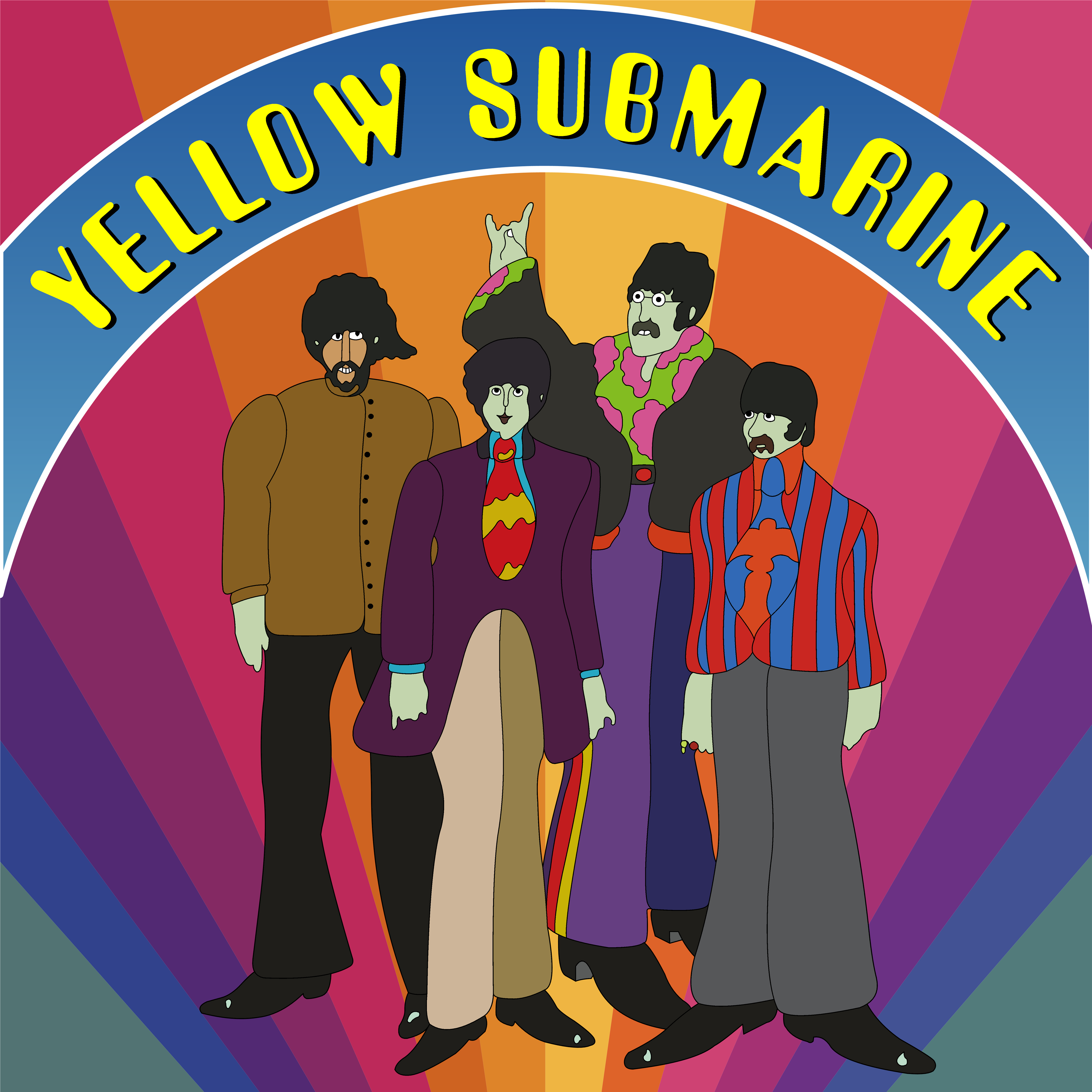 Yellow Submarine Beatles Poster by Vaiktorizer on DeviantArt