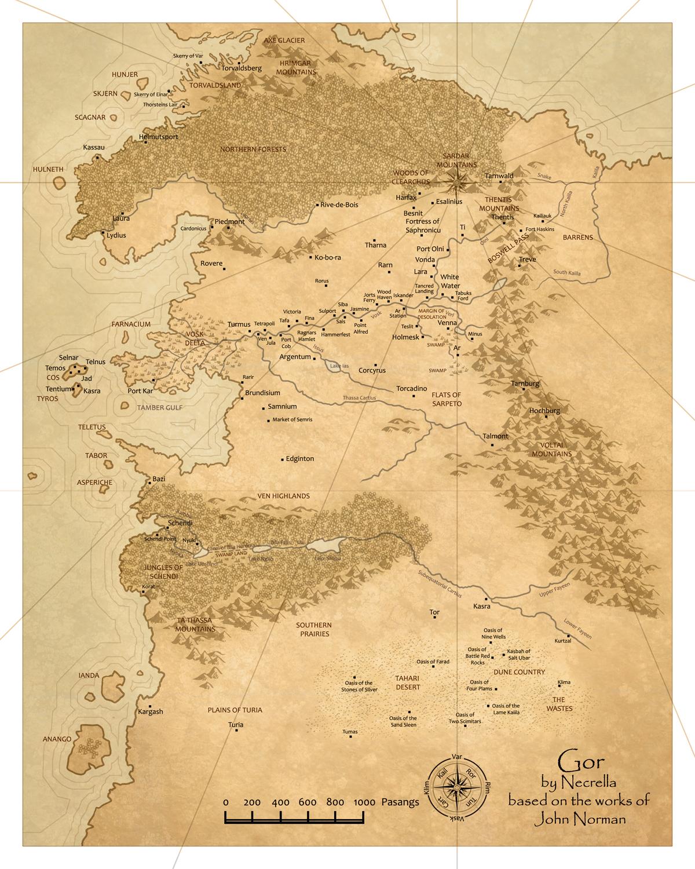 Map of Gor by Gorean-Art