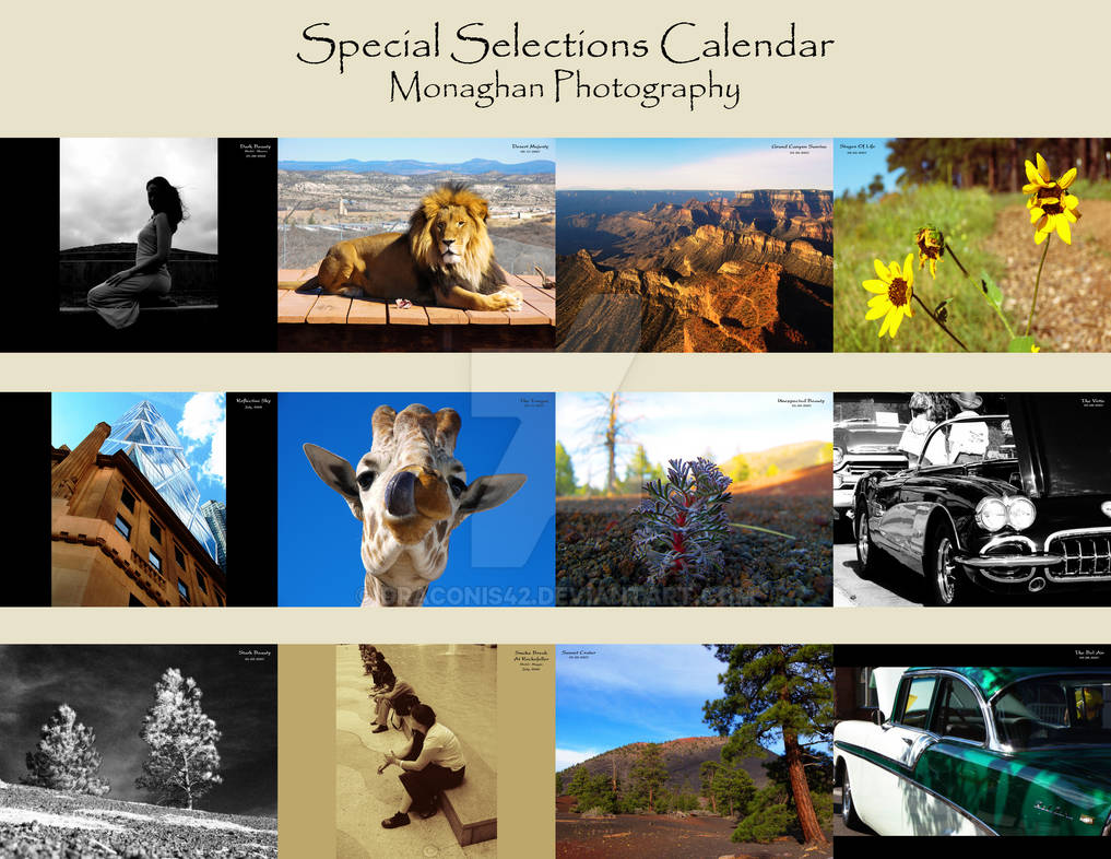 Special Selections Calendar